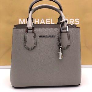 Michael Kors Adele M Messenger Bag Perl Grey
